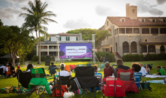 Great turnout for June Shorts Under the Stars series at Deering Estate
